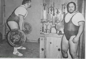 John Kuc works out at his home