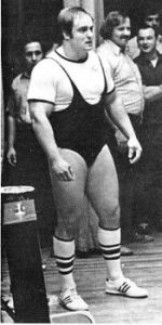 John Kuc concentrating as he prepares to make a deadlift
