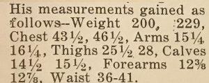 Joseph Curtis Hise measurements