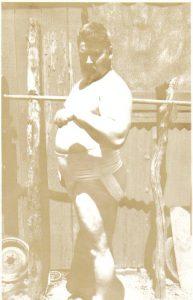 Joseph Curtis Hise Strongman outdoor training