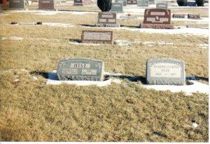 joseph curtis hise grave stone