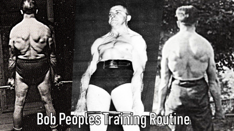 Bob Peoples Training Routine powerlifting oldschool