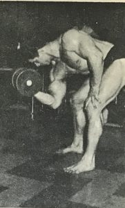Reg Park concentration curl