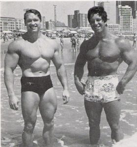 Reg Park Arnold Schwarzenegger Beach