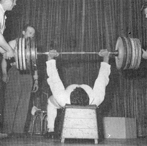 Reg Park bench pressing
