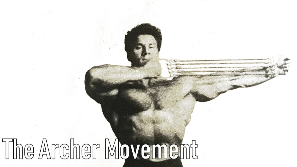 Reg Park Chest expander training