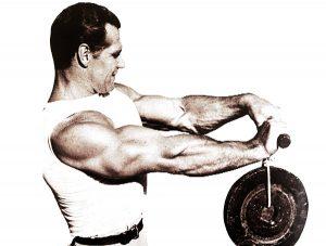 John Grimek wrist roller workout