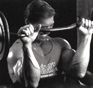 Larry Scott reverse curl biceps
