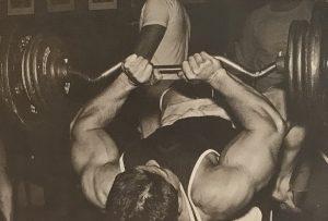 Larry Scott lying triceps press