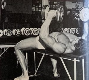 Ray Routledge dumbbell bench press