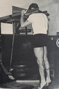 Toe Raises Machine oldschool training