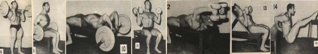 John Isaac curls arm training