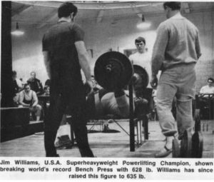 Big Jim Williams benchpress powerlifting