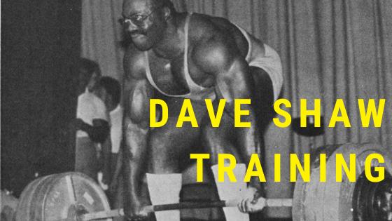Dave Shaw Training powerlifting