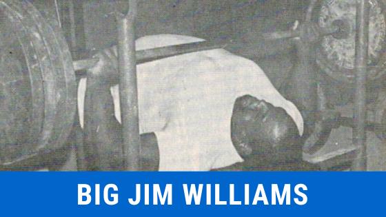 Big Jim Williams benchpress legend