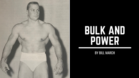Bill March bulk power weightlifter