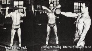 Jim Park Training Mr Universe