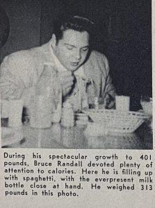 Bruce Randall diet nutrition
