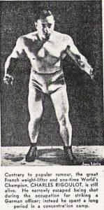Charles Rigoulot training