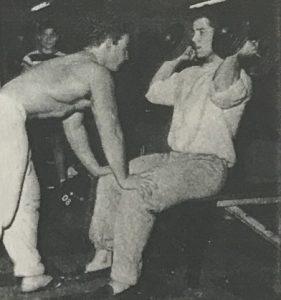 reg park curling with george eiferman