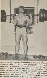 Super Star Billy Graham squat 600lb