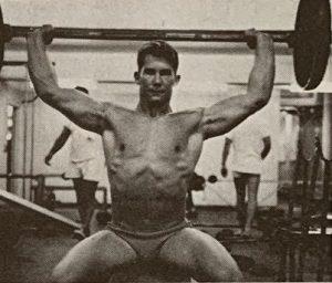 Mike Dayton press behind neck
