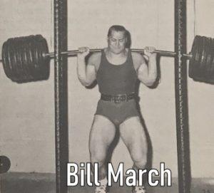Bill March squatting