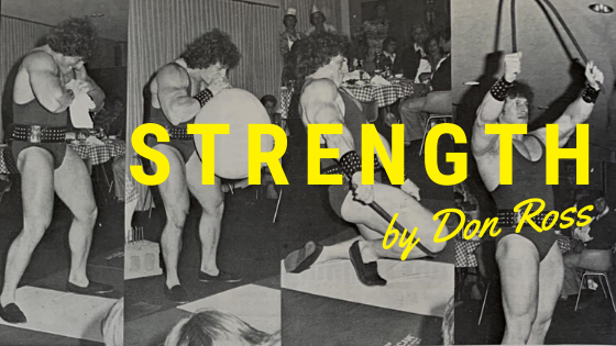 don ross strength training