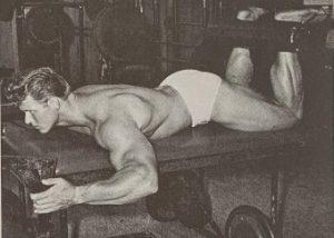 Jim Haislop leg curls bodybuilding