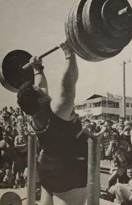 paul anderson muscle beach jerking 500lb