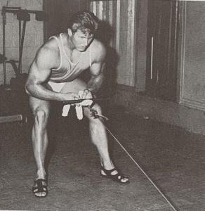 jim haislop bodybuilding workout towel rowing