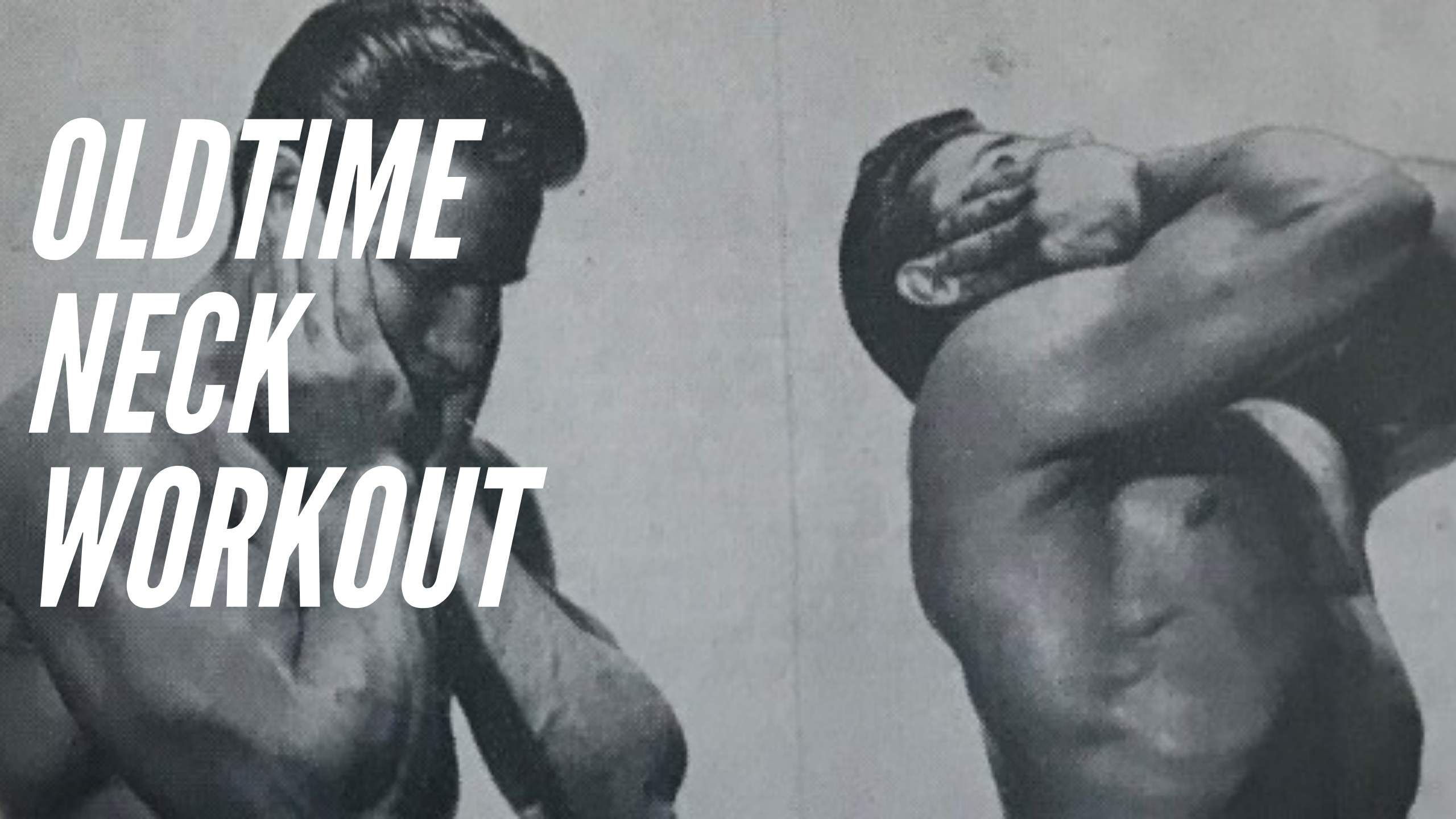 neck workout hand pressure oldschool
