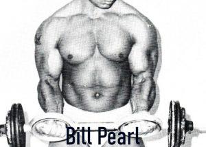 bill pearl curling biceps bodybuilding