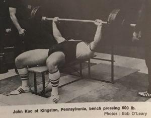 john kuc benchpress 600lb 1972