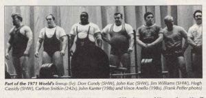 First Powerlifting Meet competitors 1971