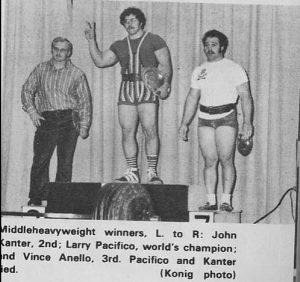 Larry Pacifico Vine Anello John Kanter 70s powerlifting