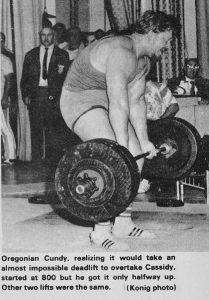 Don Cundy 800lb deadlift 70s powerlifting