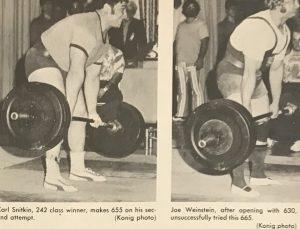Joseph Weinstein Carlton Snitkin 70s powerlifting