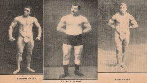 The Saxon Trio strongman