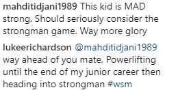 Luke Richardson strongman thoughts