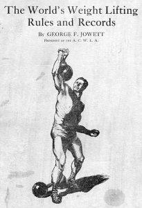 weightlfiting rules jowett george