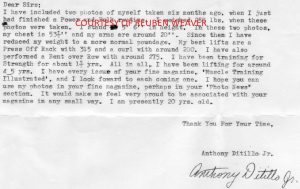 anthony ditillo letter