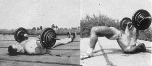 Oldschool Bench press Press on the Back