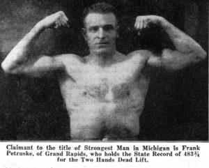 Frank Petruske oldschool deadlifter post world war