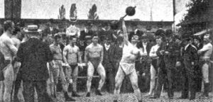 Outdoor training in Germany around the turn of the century