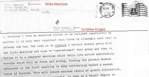 mike mentzer letter bodybuilding