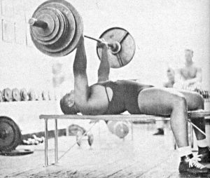 Bench press without safety oldschool