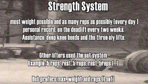 Strength System Bob Peoples