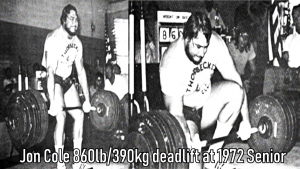 Jon Cole 860lb Deadlift 1972
